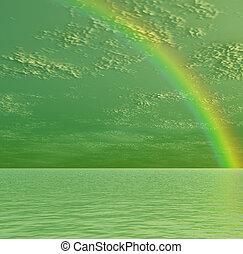 vacker, regnbåge