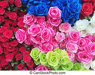 vacker, ro, färgrik, blommig, bakgrund, struktur