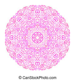 vacker, rosa bakgrund, ornamental