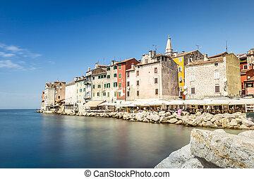vacker,  Rovinj, historisk, kroatien