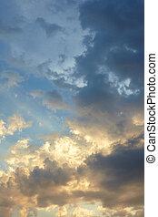 vacker, sky, bakgrund