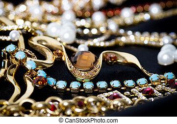 vacker, smycken, bakgrund