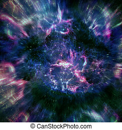 vacker, stjärna, utrymme, nebulosa