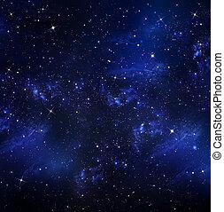 vacker, stjärnbeströdd himmel