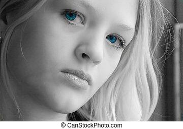 vacker, tonåring