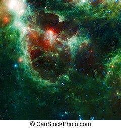 vacker, utrymme, nebulosa