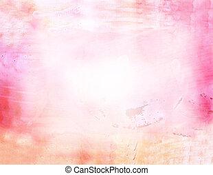 vacker, vattenfärg, bakgrund