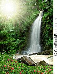 vacker, vattenfall