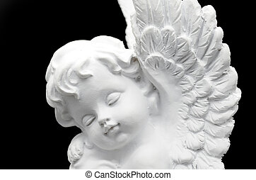 vacker, vit ängel