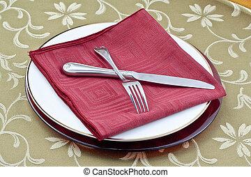 vacsora asztal, beállítás