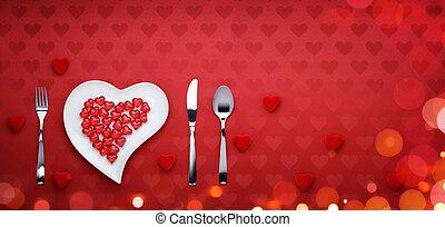 vacsora, valentines nap