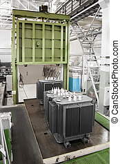 vacuum casting chamber for producing a large depth of field