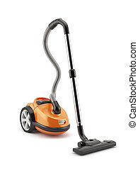 Vacuum cleaner - 3d render of vacuum cleaner isolated on ...