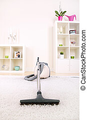 Vacuum cleaner - A picture of a new vacuum cleaner standing...