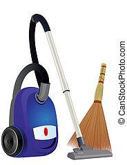 Vacuum cleaner and broom