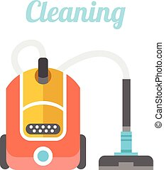 Vacuum cleaner. Cleaning concept