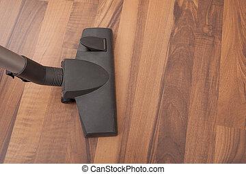 Vacuum Cleaner Cleaning Floor
