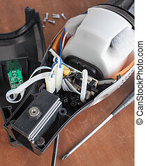 Vacuum cleaner disassembled for repair malfunctioning on...