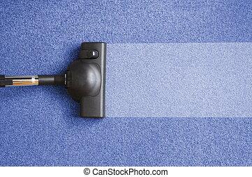 vacuum cleaner for homework - vacuum cleaner on the floor...