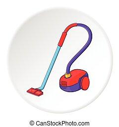 Vacuum cleaner icon, cartoon style