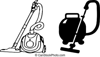 vacuum cleaner icon on white background