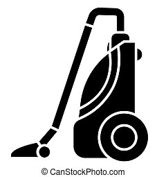 vacuum cleaner icon, vector illustration, black sign on isolated background