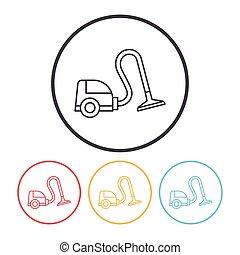 Vacuum cleaner line icon