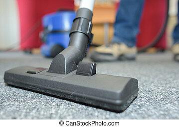 vacuum cleaner on floor