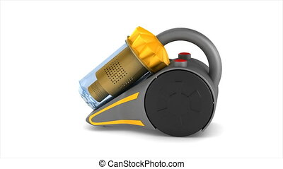 vacuum cleaner on white background. Isolated 3d render