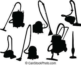 Vacuum cleaner silhouette - vector