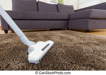 Vacuum cleaner using in living room
