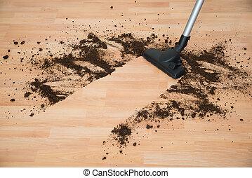 Vacuum Cleaning Hardwood Floor