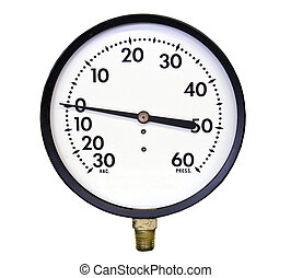 vacuum pressure gauge - vacuuum pressure gauge isolated over...