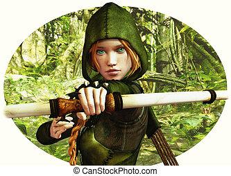 vadász, erdő