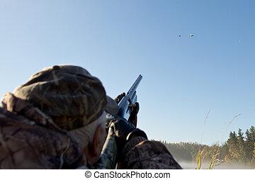 vadász, kibír céloz