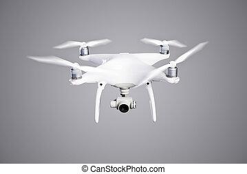 vadászik., repülés, henyél, műterem, fényképezőgép., helikopter