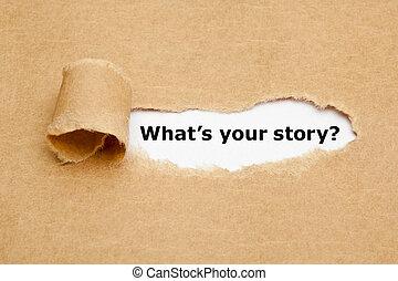 vad, är, din, berättelse, trasig tidning