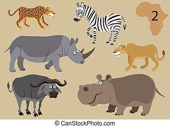vad, furcsa, állatok, afrika