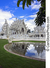 vad, rong, khun., chiang rai, thailand