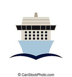 vada crociera nave linea, icona