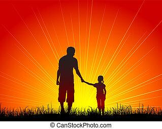 vader, dochter