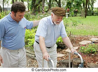 vader & zoon, bejaarden