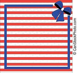 vaderlandslievend, achtergrond, voor, kwart van juli