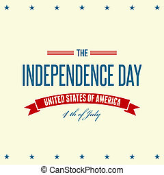 vaderlandslievend, amerikaan, dag, achtergrond, onafhankelijkheid