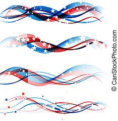 vaderlandslievend, amerikaan, dag, achtergrond,...