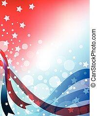 vaderlandslievend, amerikaan, ontwerp, abstract