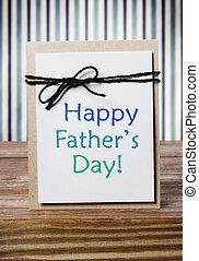 vaders, boodschap, kaart, dag