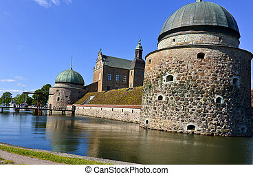 Vadstena Castle is a former royal castle in Sweden. Constructed by king Gustav Vasa in the 16th century. The town Vadstena is well visited and a very popular tourist attraction.