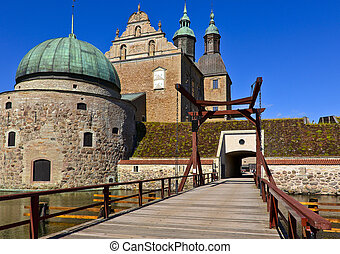 Vadstena Castle is a former royal castle in Sweden. Constructed by king Gustav Vasa in the 16th century. The town Vadstena is well visited and a very popular tourist attraction because of the many historical landmarks.