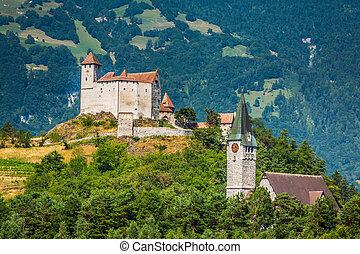 Vaduz castle view, Lichtenstein